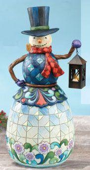 Jim Shores Snowman with lantern