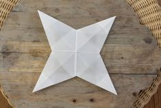 Idas Bloghaus: Basteln mit Kindern: Faltsterne aus Architektenpapier Christmas Crafts For Kids, Stars, Ideas, Origami Stars, Xmas, Handmade, Bricolage, Rustic Wall Decor, Sterne