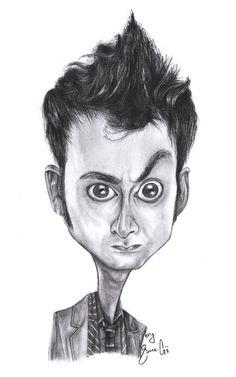 David Tennant Caricature by Gibitta.deviantart.com on @deviantART