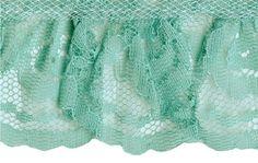2'' Mint Gathered Lace Trim Beaded Trim, Lace Trim, Types Of Lace, Eyelet Lace, Lace Shorts, Fabrics, Mint, Fashion, Tejidos