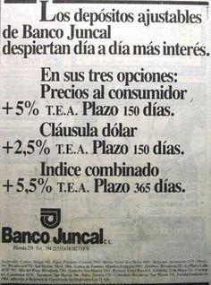 Banco Juncal 1980's
