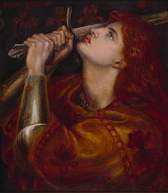 Dante Gabriel Rossetti - Jeanne dArc, 1882