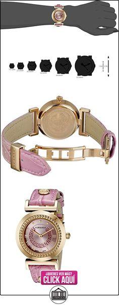 Versace P5Q80D111 S111 - Reloj de cuarzo para mujer, correa de cuero color rojo  ✿ Relojes para mujer - (Lujo) ✿ ▬► Ver oferta: https://comprar.io/goto/B00INVNZO6