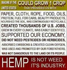 Hemp is not weed. It's Industry...and life changing. #Hemp #CBD  Join the Movement: https://myclub8.com/discover/?rep=20202