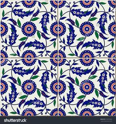 Gorgeous seamless pattern from colorful floral Turkish, Moroccan, Portuguese tiles, Azulejo, ornaments. Islamic Art.