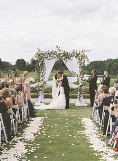 outdoor wedding Best of 2015 :: 14 of our Favorite Ceremony Backdrops Wedding Ceremony Ideas, Outdoor Wedding Isle, Outside Wedding Ceremonies, Outdoor Wedding Decorations, Wedding Venues, Outdoor Weddings, Wedding Arches, Wedding Backdrops, Classy Wedding Ideas