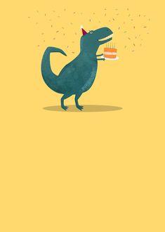 Leading Illustration & Publishing Agency based in London, New York & Marbella. Happy Birthday Ecard, Happy Birthday Greetings, Birthday Messages, It's Your Birthday, Birthday Cards, Birthday Pictures, Birthday Images, Happy Birthday Wallpaper, Dinosaur Birthday Party
