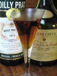 "Fallen leaves cocktail: basically a ""perfect"" apple brandy manhattan"