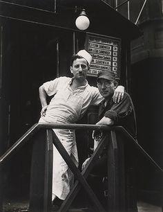 """WALKER EVANS, Lunchroom Buddies, New York City, 1931, silver print, printed 1974, ed. 75, 11 15/16"""" x 9 1/4"""""""