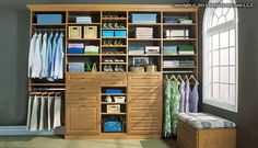 EasyClosets Candlelight Walk-In Closet with bench EasyClosets | | #DBC2013