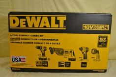 For Sale - Se Vende   NEW DEWALT DCK425C 18V Compact Cordless 4-Tool Combo Kit  DEWALT DCK425C 18V Compact Cordless 4-Tool Combo Kit -New!  18V Cordless 1/2-in Compact Drill/Driver (DC720 )  18V Cordless in Impact Driver (DC825) -   18V Cordless Reciprocating Saw (DW938) - keyless blade clamp for quick blade change without touching blade or reciprocating shaft  18V Cordless Pivoting Head Flashlight (DW908) - BRAND NEW!  $ 400.00USD  Contact 8729-6879