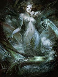 Artist: Hyojin Ahn aka Thefirstcolor - Title: Unknown - Card: Ocean Goddess Ylva (Phenomenon)