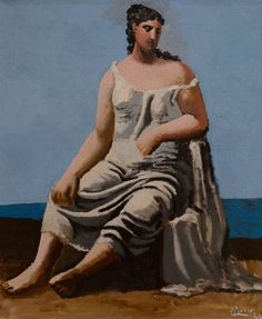 https://flic.kr/p/26fFuS4 | Pablo Picasso, Woman by the Sea, 1922 3/25/18 #artsmia