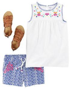 Toddler Girl CARAPR10TS17 | Carters.com Toddler Outfits, Kids Outfits, Kids Girls, Baby Kids, Carter Kids, Carters Dresses, Baby Necessities, Cute Babies, Toddler Girl
