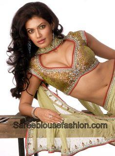 Payal_Rohatgi_Cap_Sleeves_Saree_Blouse