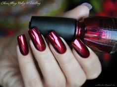 this has always been my fave color.. deep dark burgundy and glossy :)