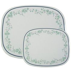 Corelle Coordinates Counter Mats, Set of 2, Callaway by Reston Lloyd. $7.46. Dishwasher top shelf. An elegant floral design in pale green, accented by a dramatically sculpted rim, gives our Callaway collection a subtle, sophisticated look, perfectly at home with any kitchen d?cor