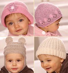 bebekler için örgü şapkalar