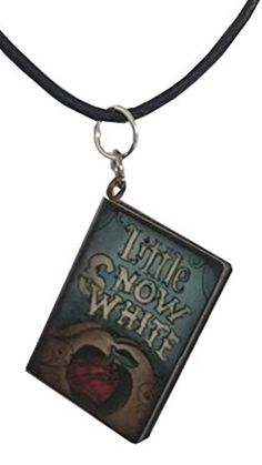 Snow White Story Book Pendant on a Spun Silk Black Choker Necklace $14.99 Created and sold exclusively by Lil Miss Marmalade