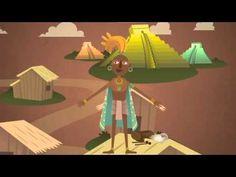 """""""¡Qué interesante!"""" Los mayas en dibujos animados (Instituto Nacional de Antropología e Historia de México)."""