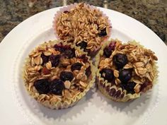 HEART-y Blueberry Oatmeal Muffins