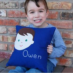 all kids need a personalized pillow $49 from sarah + abraham