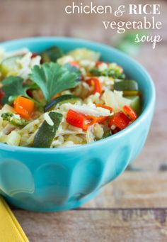 Chicken and Rice Vegetable Soup - recipe
