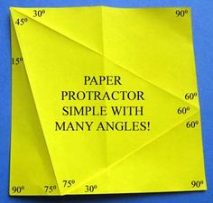 Toys from Trash - paper protractor with many angles