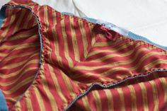 JADE — #bias-cut silk panties  These are just the comfiest and most luxurious silken underthings you could ever slip on your glorious behind! They're made of delicate and pu... #etsy #handmade #lingerie #boudoir #intimates #stripes #red #gold #blue #geometric