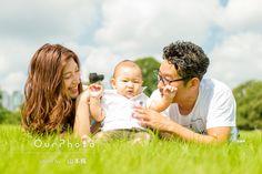 「色んな写真があってよかったです」ハーフバースデー記念に家族写真の撮影