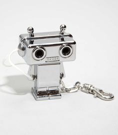 Robot headphone splitter, perfect for watching movies together on a plane and so cute.
