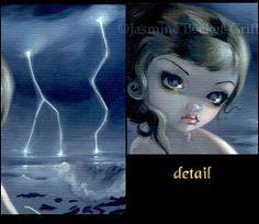 Sea Magical Realism Art | ... Jasmine Becket-Griffit h CANVAS PRINT big eye magic realism sea art
