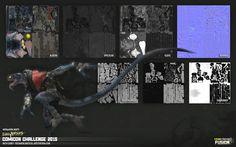 ArtStation - Comicon Challenge 2015 - Lizard + Nightcrawler, Rich Carey