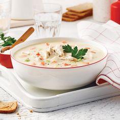 Crème de poulet - Je Cuisine Soup Recipes, Healthy Recipes, Healthy Food, Paleo Soup, Soup And Sandwich, Cheeseburger Chowder, Coco, Thai Red Curry, Stew