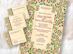 Printable Wedding Invitations - invites - digital files - Pomegranates | AmitJudaicaArt - Wedding on ArtFire