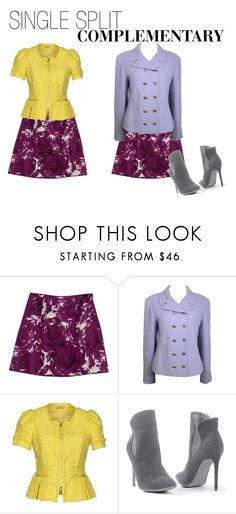"""""""SINGLE SPLIT COMPLEMENTARY"""" by desertwillow85 ❤ liked on Polyvore featuring Theory, Chanel, Nina Ricci and Venus"""