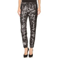 Giambattista Valli Leopard Jogging Pants - Grey