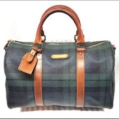 Polo Ralph Lauren Speedy Tartan plaid Boston Bag Gently loved. Great condition. Minor ink pen scribbling on interior lining. A couple small cracks in canvas on the backside of the bag only. This vintage satchel also allows the bag to be worn as a crossbody Polo by Ralph Lauren Bags Satchels