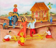 Strike the Bamboo Posts and Let's Dance The Tinikling...Filipino Folk Dance with Bamboo Sticks!