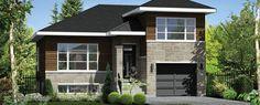 © Planimage - Cette ravissante maison à paliers illustre bien l'architecture urbaine. Elle mesure 34 pieds de largeur sur 36 pieds de profondeur et offre une surface habitable de 1 317 pieds carrés, ainsi qu'un garage simple de 275 pieds carrés attenant à la maison.