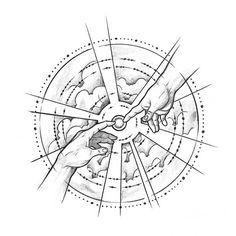God's Touch Geometric Tattoo Design