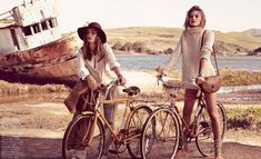 Andreea Diaconu & Edita Vilkeviciute Model Weekend Style for Vogue Paris by Mikael Jansson