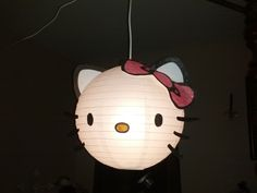 I think this is a must if she's still into it! Imagine the ceiling in fabric and the hello kitty in the centre!