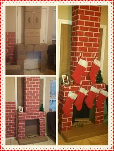 Im so excited with my chimney $10.00 did it !!! Now Santa has a way in ;) no more questions from the little ones asking how is he coming in to leave there gifts !!! =) Grinch Christmas, Christmas Hacks, Christmas Gift Box, Kids Christmas, Christmas Fireplace, Christmas Wood, Simple Christmas, Christmas Classroom Door, Office Christmas Decorations