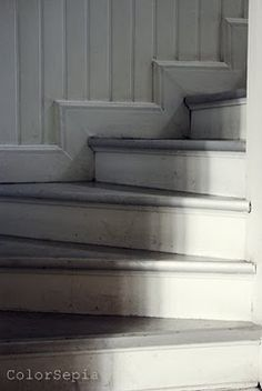Painted stairs in old house