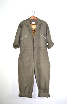 Vintage Motorcycles Vintage Coveralls Mechanics Coveralls Jumpsuit Green Coveralls Sears Nation-Alls Work Jumpsuit Rockabilly Jumpsuit from founditinatlanta on Etsy. Mechanic Jumpsuit, Mechanic Coveralls, Vintage Military Uniforms, Playsuit Romper, Jumpsuits For Women, Work Jumpsuits, Work Wear, Vintage Outfits, My Style