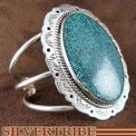 Native American Navajo Sterling Silver Turquoise Cuff Bracelet Jewelry