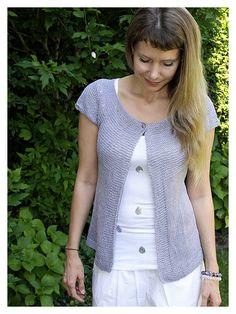Free pattern Lavender Cardigan by schneckenstrick