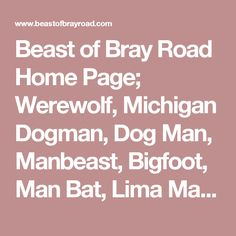 beast of bray road home page werewolf michigan dogman dog man manbeast