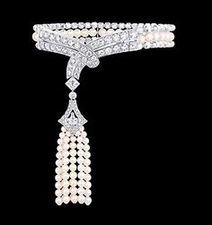 Beau Rivage bracelet with diamonds and pearls by Louis Vuitton